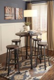 Ashley Challiman 5pc Rustic Brown Dining Table Set Available Online in Dallas Fort Worth Texas
