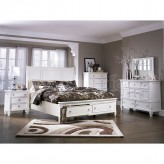 Prentice 5pc White King / Cal King Storage Bedroom Group Available Online in Dallas Fort Worth Texas