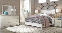 Ashley Dreamur 5pc Champagne Queen Panel Bedroom Group Available Online in Dallas Fort Worth Texas