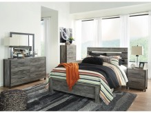 Ashley Cazenfeld 5pc Black and Grey King Panel Bedroom Group Available Online in Dallas Fort Worth Texas