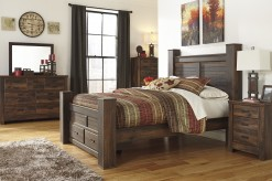 Quinden 5pc King Poster Storage Bedroom Group Available Online in Dallas Fort Worth Texas