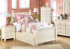 Cottage Retreat 5pc Twin Poster Storage Bedroom Group Available Online in Dallas Fort Worth Texas