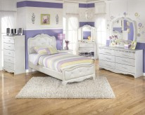 Ashley Zarollina 5pc Twin Upholstered Bedroom Group Available Online in Dallas Fort Worth Texas