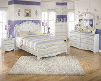 Ashley Zarollina 5pc Full Upholstered Bedroom Group Available Online in Dallas Fort Worth Texas