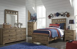 Ashley Brobern 5pc Twin Panel Bedroom Group Available Online in Dallas Fort Worth Texas