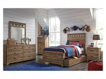 Ashley Brobern 5pc Medium Brown Twin Trundle Under Bed Storage Bedroom Group Available Online in Dallas Fort Worth Texas