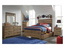 Ashley Brobern 5pc Full Panel Trundle Under Bed Storage Bedroom Group Available Online in Dallas Fort Worth Texas