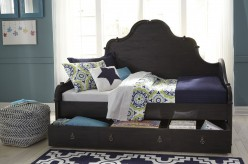 Ashley Corilyn Dark Brown Trundle Storage Daybed Available Online in Dallas Fort Worth Texas