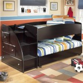 Ashley Embrace Twin Loft Caster With Left Storage Step Bed Available Online in Dallas Fort Worth Texas