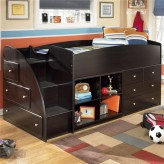 Ashley Embrace Twin Loft Storage Bed with Left Storage Steps Bunk Bed Available Online in Dallas Fort Worth Texas