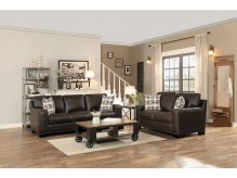 Homelegance Gowan 2pc Dark Brown Sofa & Loveseat Set Available Online in Dallas Fort Worth Texas