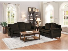 Homelegance Midwood 2pc Chocolate Sofa & Loveseat Set Available Online in Dallas Fort Worth Texas