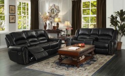 Homelegance Center Hill 2pc Black Power Double Reclining Sofa & Loveseat Set Available Online in Dallas Fort Worth Texas