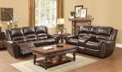 Homelegance Center Hill 2pc Dark Brown Power Double Reclining Sofa & Loveseat Set Available Online in Dallas Fort Worth Texas