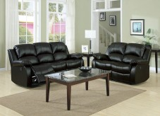 Homelegance Cranley 2pc Black Power Double Reclining Sofa & Loveseat Set Available Online in Dallas Fort Worth Texas
