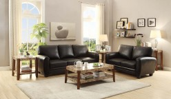 Rubin 2pc Black Sofa & Loveseat Set Available Online in Dallas Fort Worth Texas