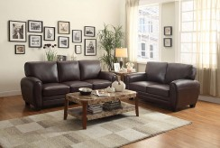 Rubin 2pc Dark Brown Sofa & Loveseat Set Available Online in Dallas Fort Worth Texas