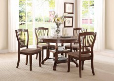 Homelegance Frankford 5pc Brown Round Dining Table Set Available Online in Dallas Fort Worth Texas