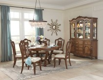 Homelegance Moorewood Park 7pc Pecan Round Dining Table Set Available Online in Dallas Fort Worth Texas