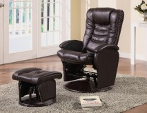 Coaster Hurley Swivel Glider Recliner With Ottoman Available Online in Dallas Fort Worth Texas