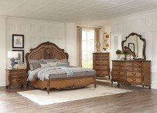 Homelegance Moorewood Park 5pc Pecan Queen Bedroom Group Available Online in Dallas Fort Worth Texas