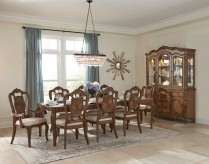 Homelegance Moorewood Park 9pc Pecan Dining Table Set Available Online in Dallas Fort Worth Texas