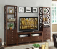 Homelegance Polson 3pc Espresso Wall Unit Available Online in Dallas Fort Worth Texas