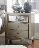 Odelia Silver Night Stand Available Online in Dallas Fort Worth Texas