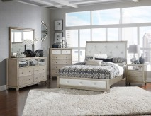 Homelegance Odelia 5pc Silver Queen Bedroom Group Available Online in Dallas Fort Worth Texas