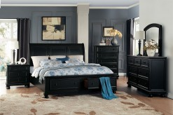 Homelegance Laurelin 5pc Black Queen Platform Bedroom Group Available Online in Dallas Fort Worth Texas