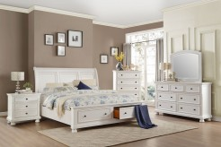 Homelegance Laurelin 5pc White Queen Platform Bedroom Group Available Online in Dallas Fort Worth Texas
