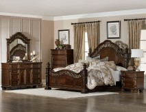 Homelegance Catalonia 5pc Cherry Queen Bedroom Group Available Online in Dallas Fort Worth Texas