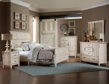 Terrace 5pc Antique White Queen Bedroom Group Available Online in Dallas Fort Worth Texas