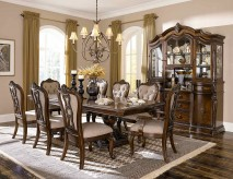 Homelegance Bonaventure Park 9pc Cherry Rectangular Dining Table Set Available Online in Dallas Fort Worth Texas