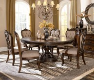 Homelegance Bonaventure Park 7pc Cherry Round Dining Table Set Available Online in Dallas Fort Worth Texas