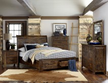 Homelegance Jerrick 5pc Burnished Queen Sleigh Platform Bedroom Group Available Online in Dallas Fort Worth Texas