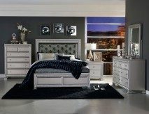 Homelegance Bevelle 5pc Silver Queen Bedroom Group Available Online in Dallas Fort Worth Texas