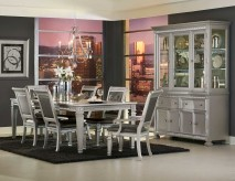 Homelegance Bevelle 7pc Silver Dining Table Set Available Online in Dallas Fort Worth Texas
