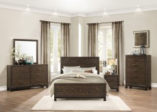 Homelegance Branton 5pc Antique Brown King Panel Bedroom Group Available Online in Dallas Fort Worth Texas