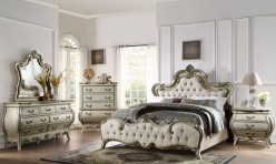 Homelegance Elsmere 5pc Antique Grey King Upholstered Bedroom Group Available Online in Dallas Fort Worth Texas