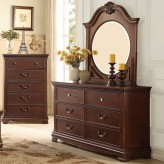 Homelegance Lucida Cherry Mirror Available Online in Dallas Fort Worth Texas