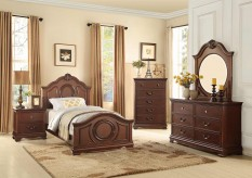 Homelegance Lucida 5pc Cherry Twin Bedroom Group Available Online in Dallas Fort Worth Texas