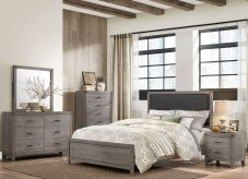 Homelegance Woodrow 5pc Queen Upholstered Panel Bedroom Group Available Online in Dallas Fort Worth Texas