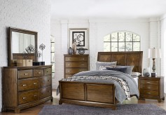 Homelegance Terron 5pc Medium Oak Queen Sleigh Bedroom Group Available Online in Dallas Fort Worth Texas