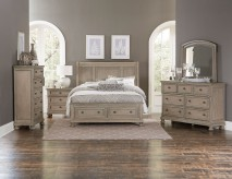 Bethel 5pc Grey King Sleigh Platform Bedroom Group Available Online in Dallas Fort Worth Texas
