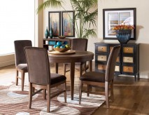 Homelegance Beaumont 5pc Brown Cherry Round Dining Table Set Available Online in Dallas Fort Worth Texas