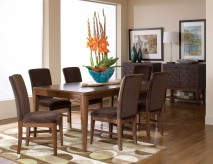 Homelegance Beaumont 7pc Brown Cherry Rectangular Dining Table Set Available Online in Dallas Fort Worth Texas