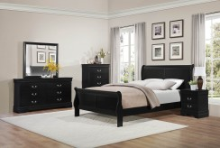 Mayville 5pc Black Queen Sleigh Bedroom Group Available Online in Dallas Fort Worth Texas