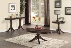 Homelegance Marston 3pc Dark Cherry Oval Coffee Table Set Available Online in Dallas Fort Worth Texas