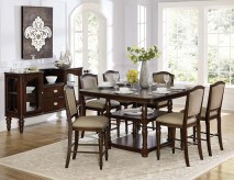 Homelegance Marston 7pc Dark Cherry Counter Height Dining Room Set Available Online in Dallas Fort Worth Texas
